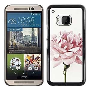 TopCaseStore / la caja del caucho duro de la cubierta de protección de la piel - Light Pink Rose Petals Garden Flower - HTC One M9