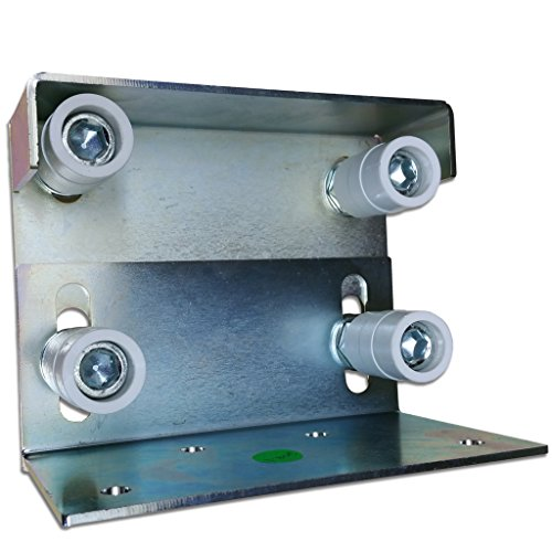 Double Adjustable Guide Roller Rolling Gates Slide Gate Rollers Upright Straight by L.A. Ornamental