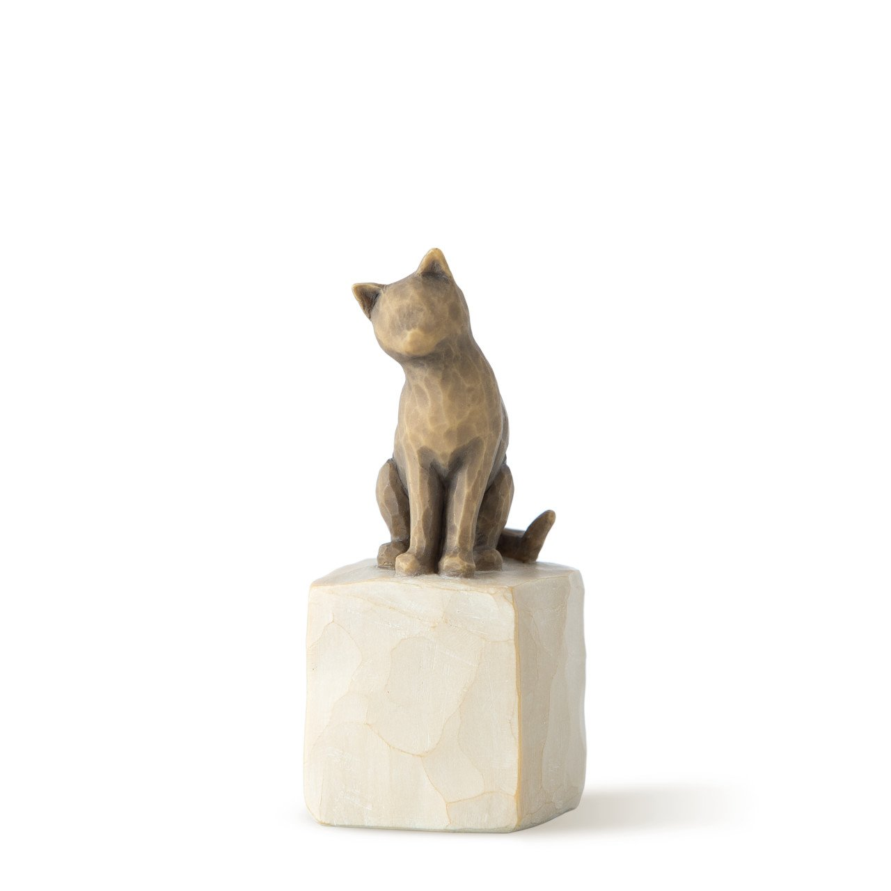 Willow Tree Hand-Painted Sculpted Figure, Love My Cat (Dark) by Willow Tree