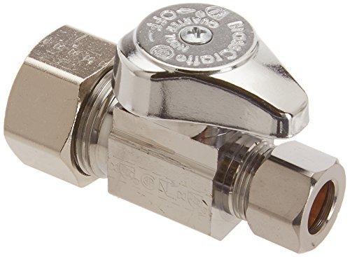 Brasscraft G2CR14X C 1/2 Nom. by 3/8 OD Straight Stop Lead-Free, Chrome by BrassCraft