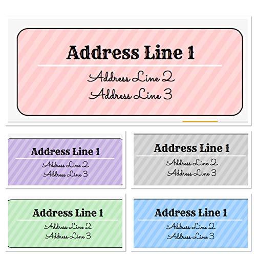 Stripe Personalized Address Labels, Set Of 30, Personalized Wedding Address Labels, Engagement Labels, Bridal Labels (Stripes Label Address Big)