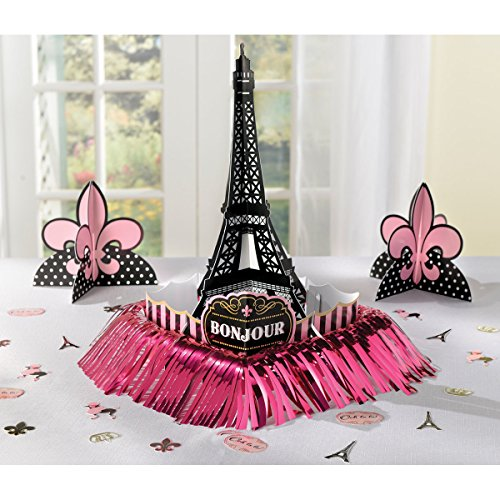 Amscan Day in Paris Table Decorating Kit, Multicolor, One Size