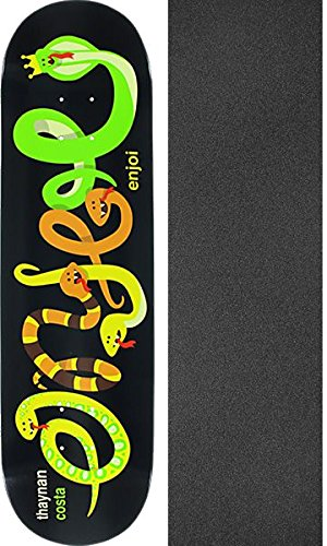 列車教育者シンポジウムEnjoi Skateboards Thaynan Costa IntertwinedスケートボードデッキImpact Light – 8.25