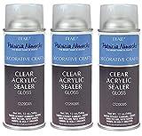 Plaid Patricia Nimocks Clear Acrylic Sealer (12-Ounce), CS200305 Gloss (3-(Pack))