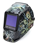 Welding Helmet, Zombie Graphic, Black/Blue
