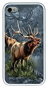 Elk Protector TPU Case Cover for iPhone 4 and iPhone 4s White by icecream design