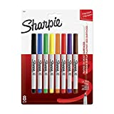 Sharpie ULTRA FINE POINT Marker Permanent,  Permanent Marker Ultra Fine, 8-Carded, Assorted Inks (37600PP)