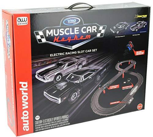 Auto World/VRC Hobbies Muscle Car Mayhem HO Scale Slot Car Race Set CP7605 from VRC Hobbies