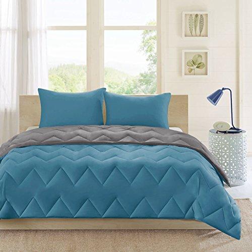 Intelligent Design Trixie Reversible Down Alternative Comforter Mini Set, King/California King, - Dimensions Comforter Set
