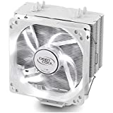 DeepCool CPU Cooler 4 Heatpipes 120mm PWM Fan with Blue LED Universal Socket Solution GAMMAXX 400