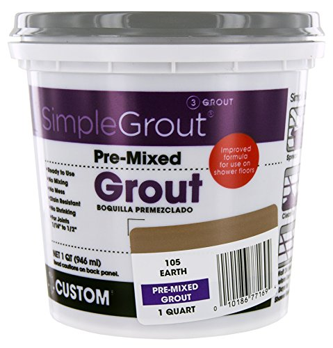 Custom PMG105QT 1-Quart Simple Premium Grout, Earth