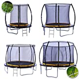 kanga 8ft Premium Trampoline with Safety Enclosure, Net, Ladder and Anchor Kit (8ft)