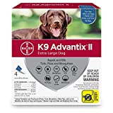 Bayer K9 Advantix II Flea - Tick and Mosquito Prevention for X-Large Dogs - Over 55 lb - 4 doses