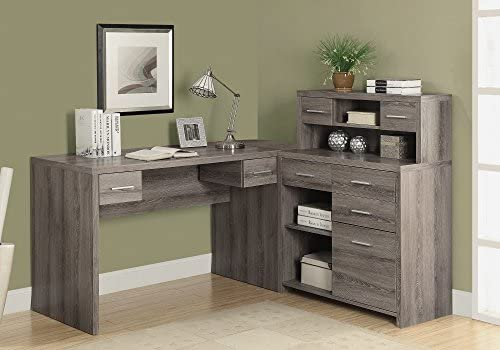 Monarch Specialties DARK TAUPE LEFT OR RIGHT FACING CORNER Computer Desk