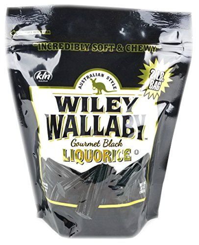 Wiley Wallaby Australian Gourmet Style Black Licorice Candy 32 Oz. 2 LB (Original Version)