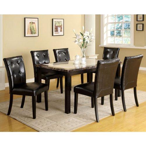 247SHOPATHOME IDF-3188T-60 5PC Dining-Room-Sets 5-Piece, Black