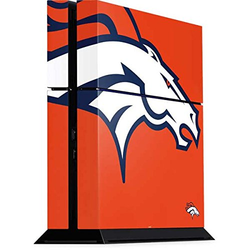 Skinit NFL Denver Broncos PS4 Console Skin - Denver Broncos Large Logo Design - Ultra Thin, Lightweight Vinyl Decal Protection