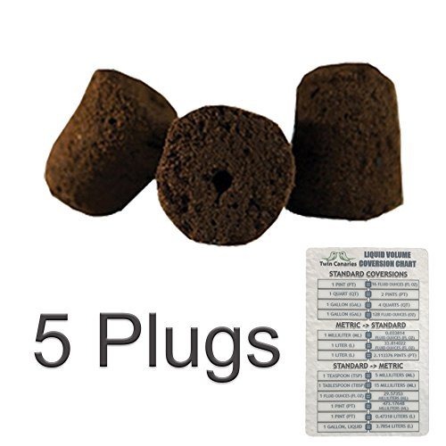 AL HYDROPONICS RAPID ROOTER REPLACEMENT CLONE PLUGS + TWIN CANARIES CHART - 5 Plugs (Rapid Replacement)