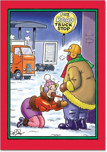 "NobleWorks ''Ice Truck Stop'' Funny Christmas Greeting Card, 5"" x 7"" (5726)"
