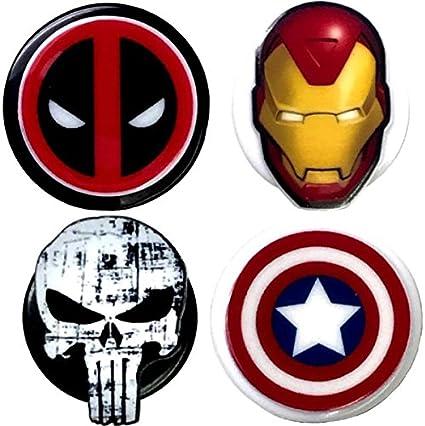 Deadpool inspirado símbolo decorativo ID Badge Holder, color Marvel 4 Pack: Amazon.es: Oficina y papelería