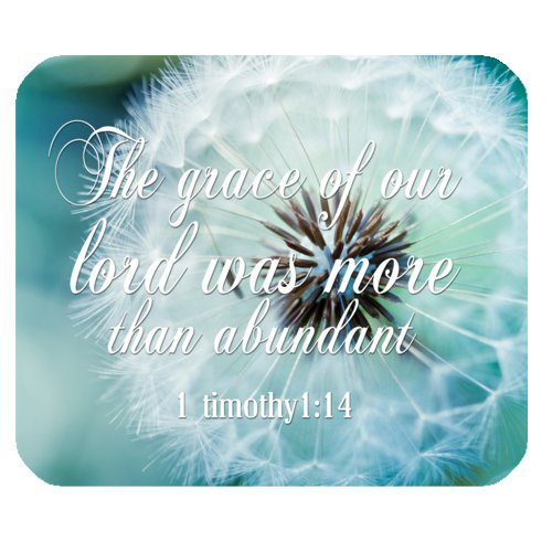 Brand New Christian Bible Verse 1timothy 1:14 Rectangle Non-slip Rubber Mouse Pad,Gaming Mouse Pad,Office Mousepads,Desktop Mousepad