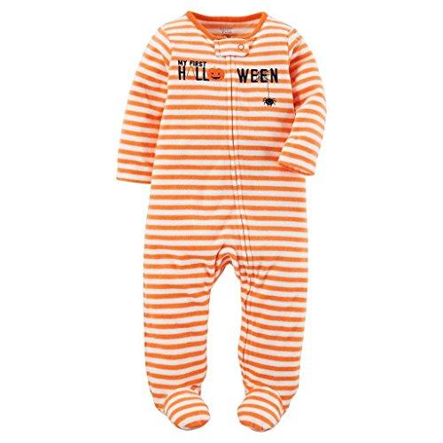 Carter's Just One You Baby Unisex Stripe Halloween Sleep N' Play- Orange