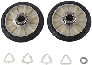 Whirlpool 349241T Dryer Drum Support Roller Kit Genuine Original Equipment Manufacturer (OEM) Part