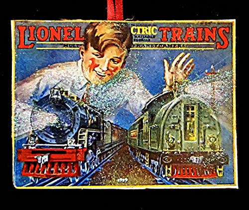 Lionel Train, Handcrafted Wood, Christmas Ornament, 1929 Catalog, Train Set, Boy's Ornament, Christmas Gift, Toy Train, Engine, Vintage Toys -