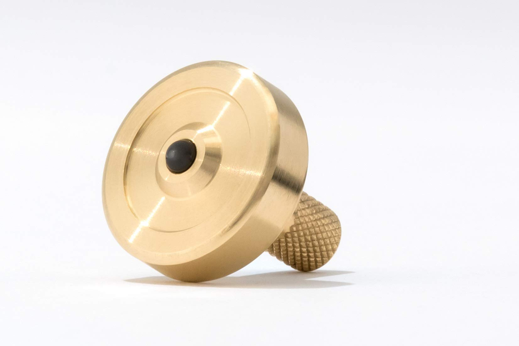 Bruce Charles Designs Schulte Brass Metal Spinning Top | EDC Desk Toys for Office for Adults and Kids | Unique Gift by Bruce Charles Designs (Image #3)