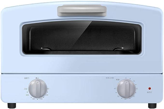 Opinión sobre Barbacoa Microondas Compacto Horno, Doble vidrio de cuarzo tubo de la calefacción, Cajón Tipo de la parrilla Net y 1000w Potencia de Cocción, for mesas de trabajo Horno, azul y rosa (color: azul) (Col