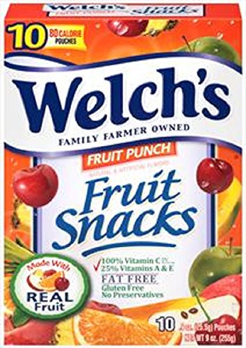 (Welch's Fruit Punch Flavor Fruit Snacks, 0.9 Ounces each - 10 Count)