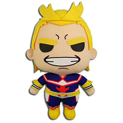 """Great Eastern Entertainment My Hero Academia All Might Plush Toy, 8"""" H, Multicolor: Toys & Games"""