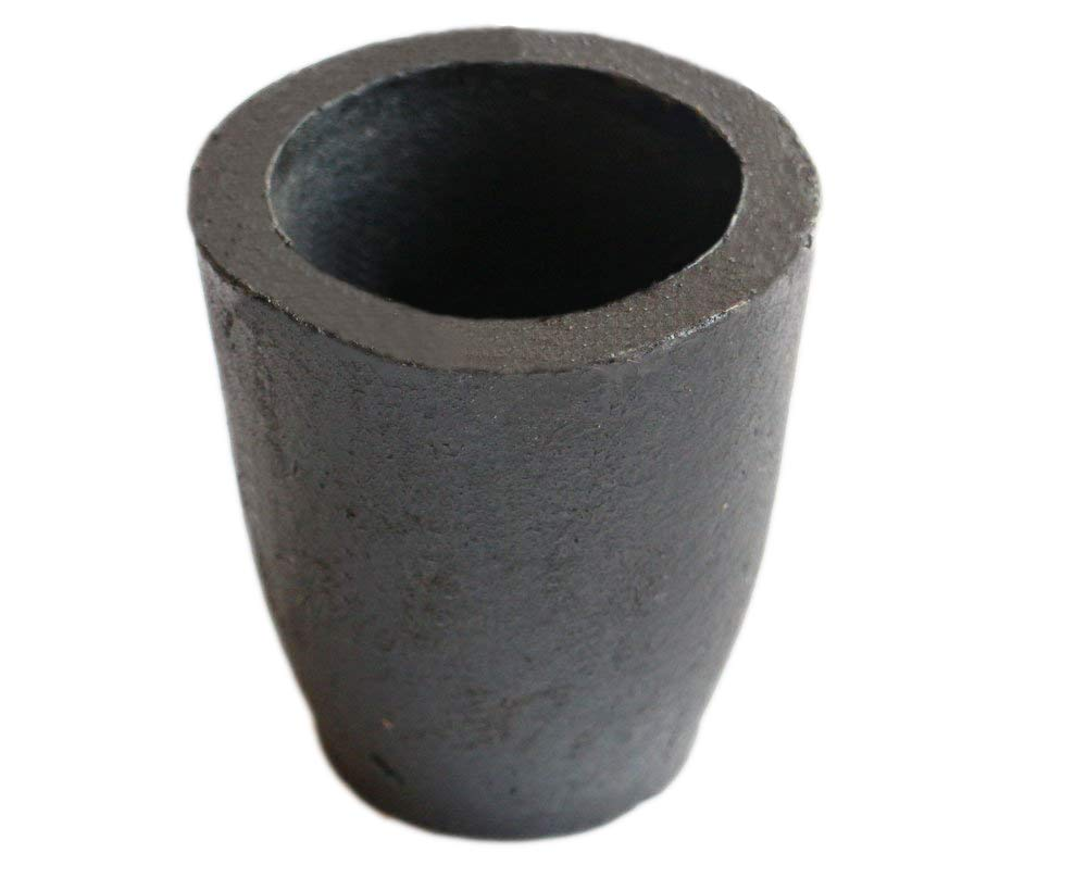 OTOOLWORLD 1KG Clay Graphite Crucible Foundry Cup Furnace Torch Melting Casting Refining Gold Silver Copper Brass Aluminum Lead Zinc and Alloys niantu1kg