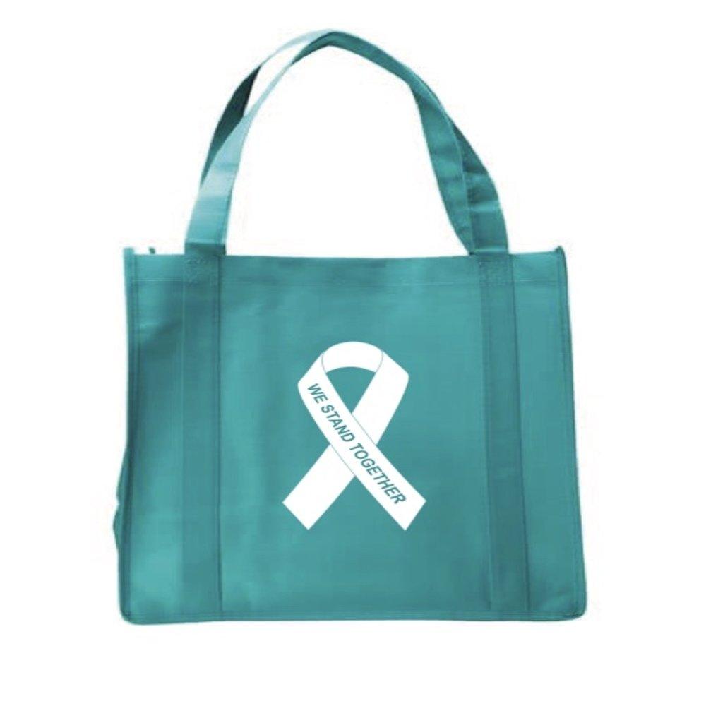 2019人気No.1の Teal Grocery Ribbon Bag Awareness Reusable Grocery Bag B076HG62RD B076HG62RD, 輸入ブランド洋食器専門店2本の剣:30d95e12 --- 4x4.lt