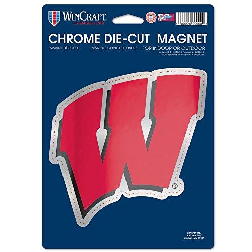 (NCAA University of Wisconsin Chrome Magnet, 6.25 x 9,)
