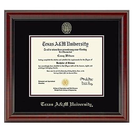 Amazon.com : Texas A&M Fidelitas Diploma Frame : Sports Fan Diploma ...