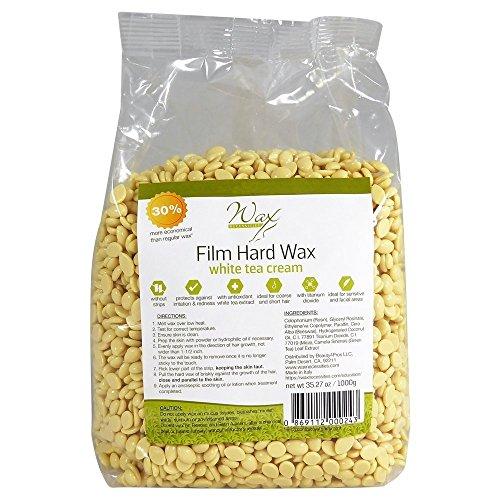 Wax Necessities Film Hard Wax Beads - White Tea Cream 35.27 oz/ 2.2 lb