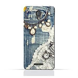 AMC Design Alcatel U50 TPU Silicone Protective Case with Modern Jeans Pattern