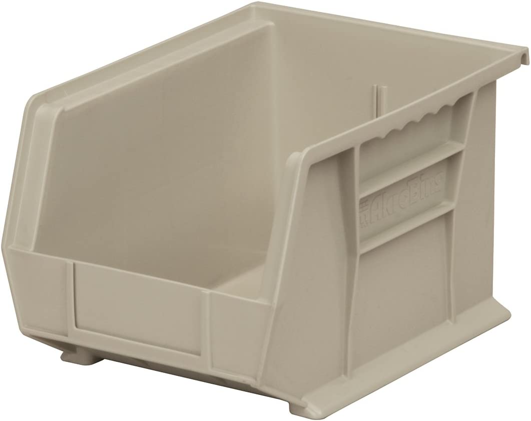 Yellow Akro-Mils 30239 Plastic Storage Stacking Hanging Akro Bin 11-Inch by 8-Inch by 7-Inch Case of 6