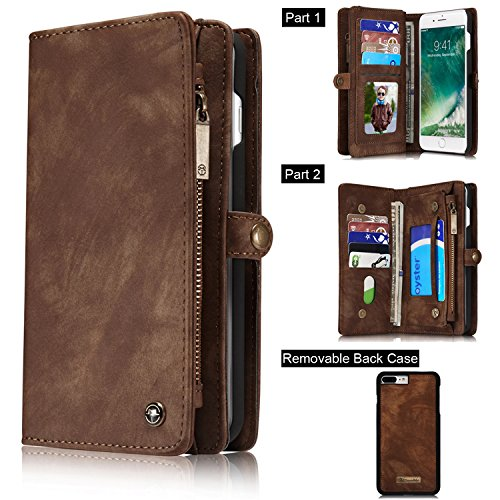 TOPWOOZU Leather Detachable Magnetic Removable