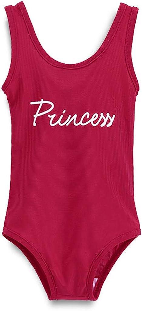Sayolala Toddlers Infant Baby Kids Swimsuit Swimwear Letter Printed Sleeveless Beachwear 1-4 Years