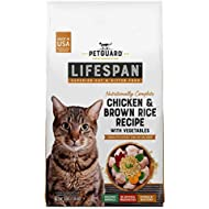 PetGuard LifeSpan Chicken, Brown Rice Recipe with Vegetables, Superior Cat and Kitten Food Food, 3-lb Bag