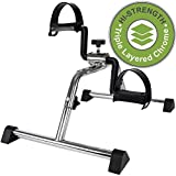 Medical Pedal Exerciser Chrome Frame (Exercise Peddler Requires Simple and Quick Assembly)