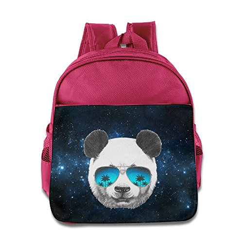 Panda With Sunglasses Children Kids Small Toddler Backpack For Boy Girl Pink Size One Size