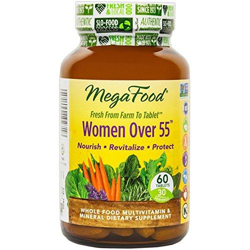 MegaFood - Multi for Women 55+, A Balanced Whole Food Multivitamin, 60 Tablets (FFP)