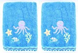 Kids Sierra Undersea 2-Pack Embroidered Bath Towel - 100% Cotton - 27'' by 54''