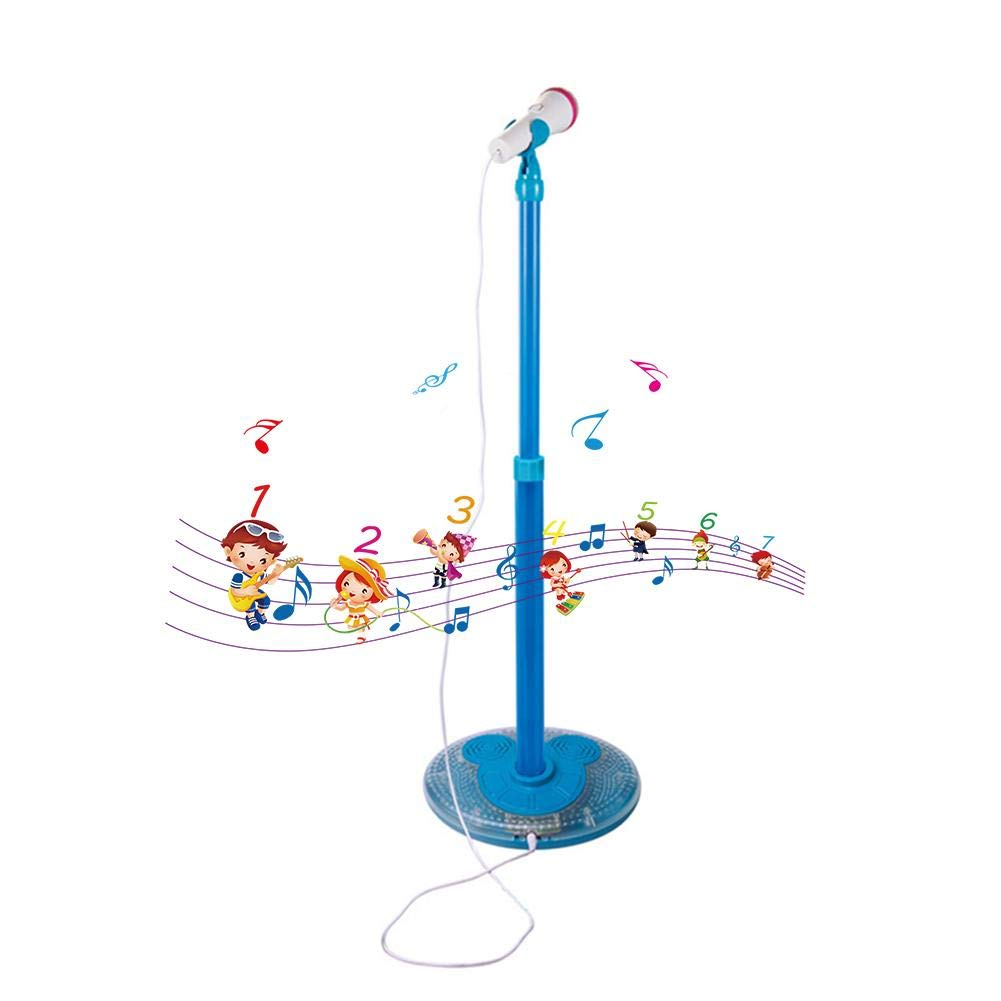 Greatpassion Kids Karaoke Machine, Kids Microphone Music Toy Play Set with Microphone & Adjustable Stand, Cable Connect to Electronic Devices by Greatpassion (Image #1)