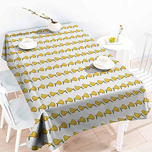 Pear,Party Table Cloth Pattern with Little Graphic Pears Up and Down Fresh Juicy Fruit 50
