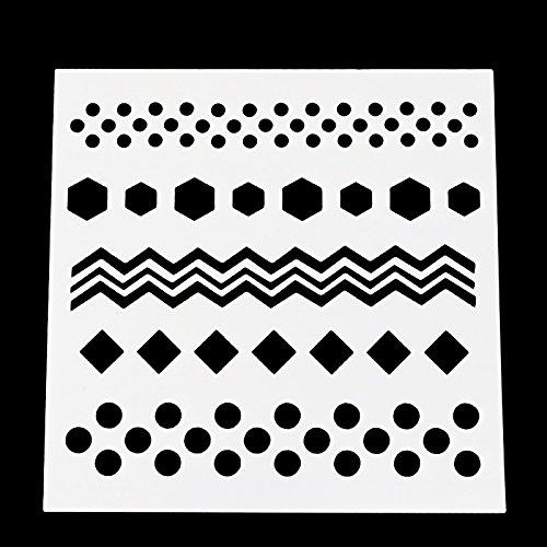 DIY Painting Stencil for Scrapbooking Cardmaking Cake,Brick (Polka dot) by SLGIFT (Image #1)
