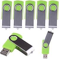 LHN® (Bulk 5 Pack) 32GB Swivel USB Flash Drive USB 2.0 Memory Stick (Green)